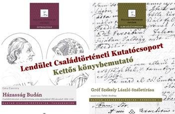 Az MTA-Lendület Családtörténeti Kutatócsoport legújabb kiadványainak könyvbemutatója.