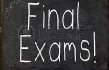 Final Exam information, schedule