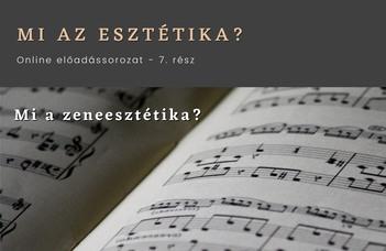 Mi a zeneesztétika?