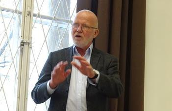 Prof. Ragnar A. Audunson (Oslo Metropolitan University) előadása.