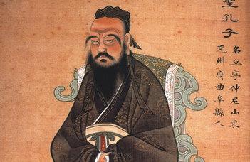 Salát Gergely tart előadást az ELTE Konfuciusz Intézet szervezésében.