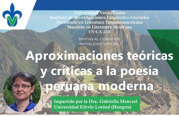 Perui költőkről a mexikói Universidad Veracruzana posztgraduális képzésén