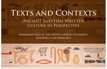 Angol nyelvű nemzetközi konferencia az Egyiptológia Tanszék szervezésében.