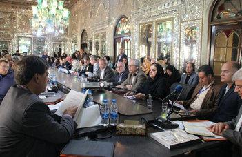 Az Iranisztikai Tanszék a Golestan palotában