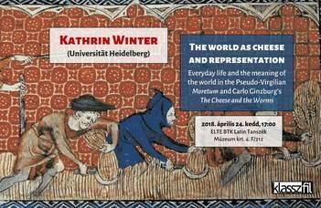 Kathrin Winter, a Heidelbergi Egyetem Klasszika-filológiai Intézet oktatójának előadása.