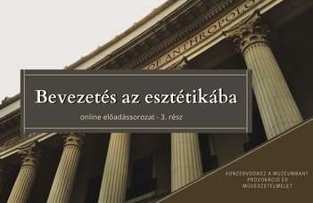 Az ELTE Esztétika Tanszék sorozatában László Laura tart előadást.