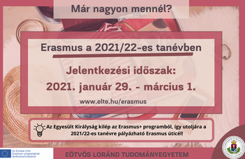 Erasmus+ főpályázati felhívás 2021/22